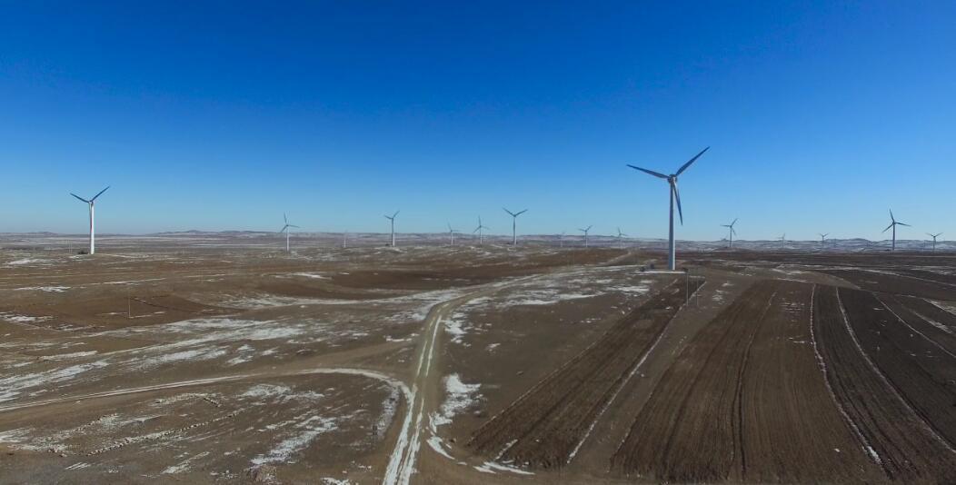 航天万源3MW风电航拍